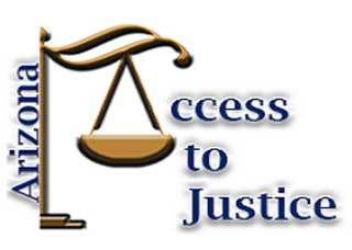 Logo for the Access to Justice Online Intake